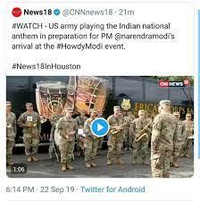 US army cnn news 18 tweet