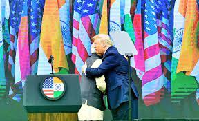 Image shows Modi and Trump.
