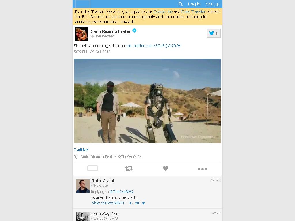 Robot video screengrab from original video