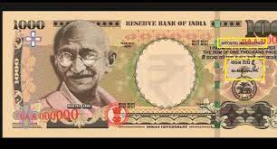 Rs 1000 notes highlight