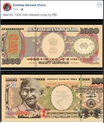 Rs 1000 viral on fb