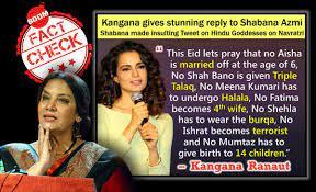 Fake Quote Claiming Kangana Ranaut Slammed Shabana Azmi Revived