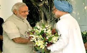 Modi with manmohan singh