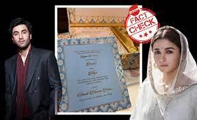 Alia Bhatt And Ranbir Kapoor To Marry On January 22? Fake Invite Goes Viral