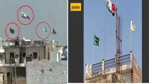 L-R Still from viral video and clear image of the same location